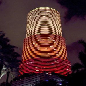 LED Makeover of Miami Tower