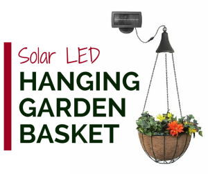 Solar LED hanging basket