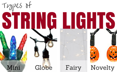 Four different types of string lights