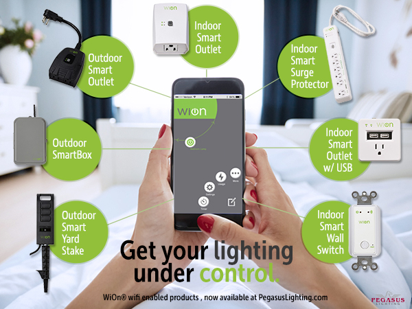 Wion smart controls at Pegasus Lighting